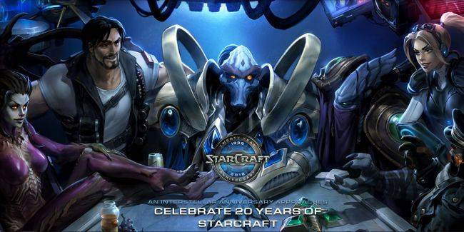 StarCraft turns 20 this month and all of Blizzard's games are celebrating