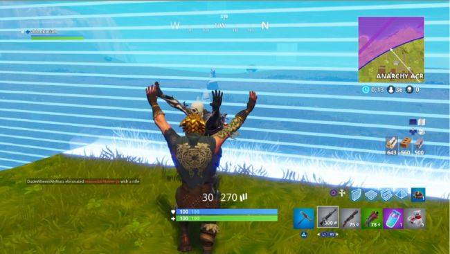 Watch these Fortnite players make love not war