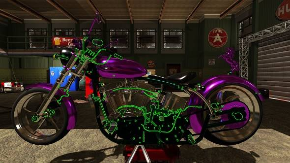 Free games: Build the chopper of your dreams by winning Motorbike Garage Simulator!
