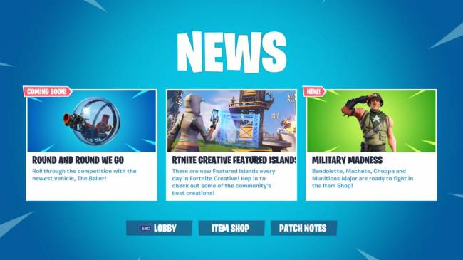 Fortnite Update 8.10 Downtime Set For Tomorrow