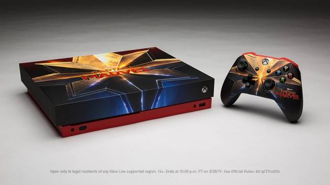 Captain Marvel Xbox One X System Being Given Away By Microsoft