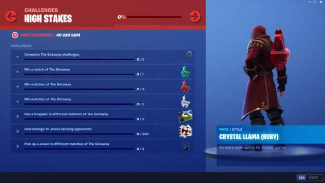 Fortnite High Stakes Challenges Are Back With New Rewards For A Limited Time