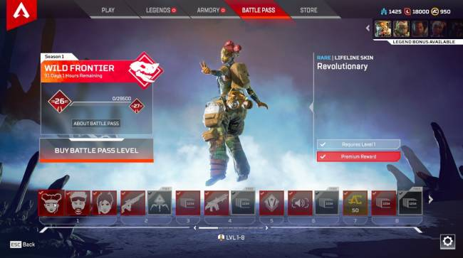 Apex Legends Season 1 Battle Pass: All The Skins You Can Earn