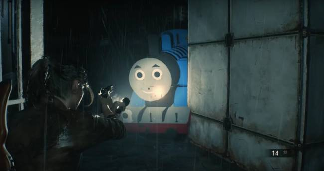 Substitute Mr. X For Thomas The Tank Engine With This Resident Evil 2 Mod