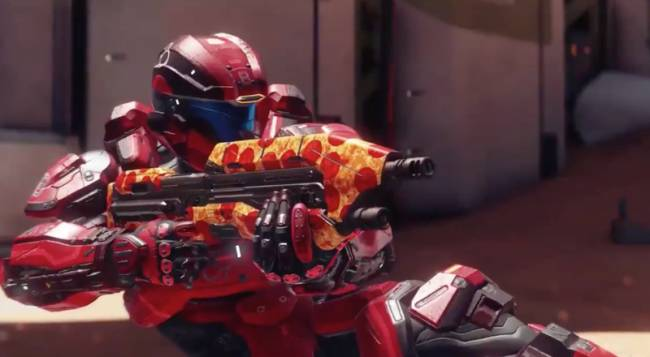 343 Industries Gives Back To Fans With Halo 5 Pizza Skin