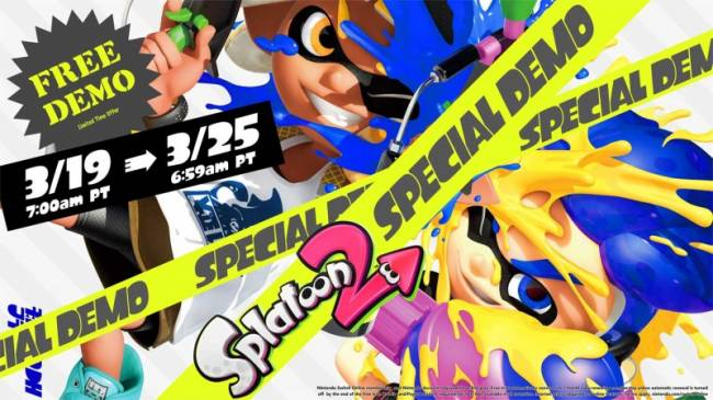 Nintendo Offering Splatoon 2 Free Online Trial