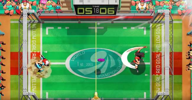 Check out some Windjammers 2 totally tubular gameplay right here