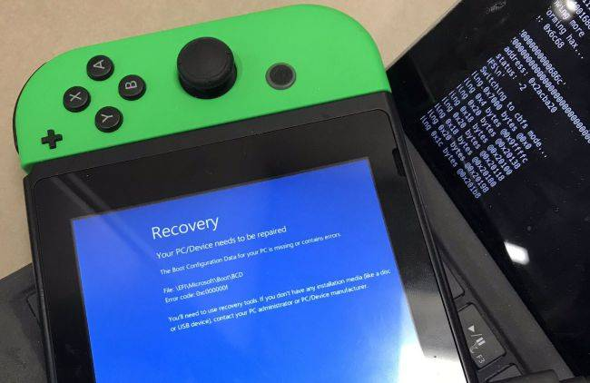 Developer tries installing Windows 10 on a Nintendo Switch, is met with a BSOD