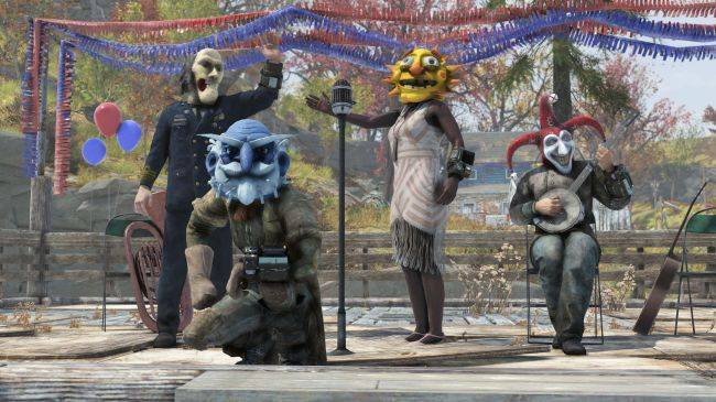 Fallout 76's first seasonal event will add spooky masks, burning effigies