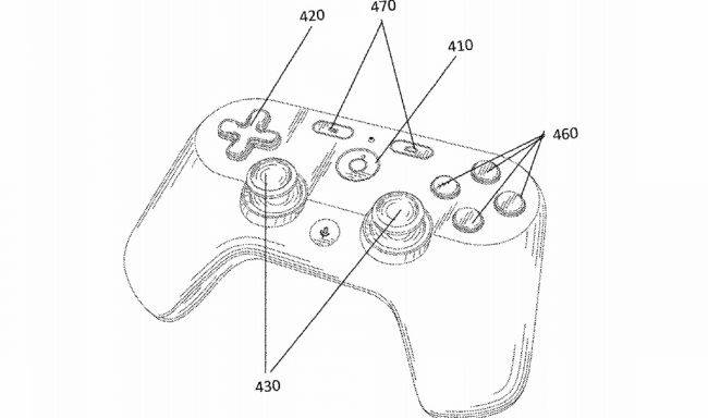 Google patent offers first look at the controller for its rumoured streaming service