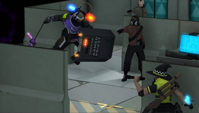 Watch 10 minutes of magical cops battling drug dealers in Tactical Breach Wizards