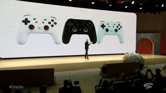 This is Google's custom controller for its Stadia streaming game service