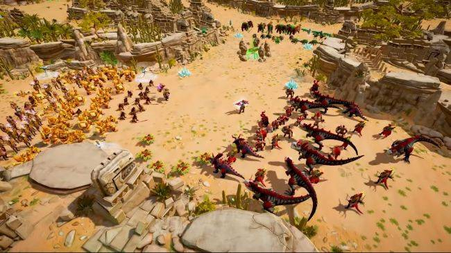 Warparty makes zombies and dinosaurs fight in RTS battles