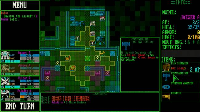 Mainframe Defenders is a slick, simple tactical roguelite