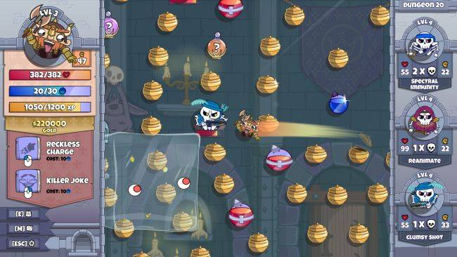 Roundguard is Peggle mixed with a dungeon crawling roguelike