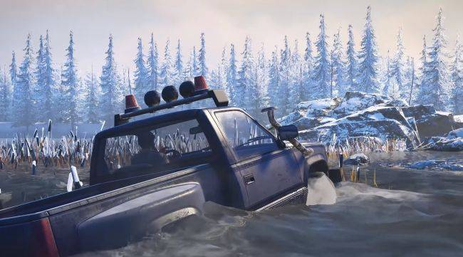 SnowRunner trailer explores the muddy sim's physics, maps and vehicles