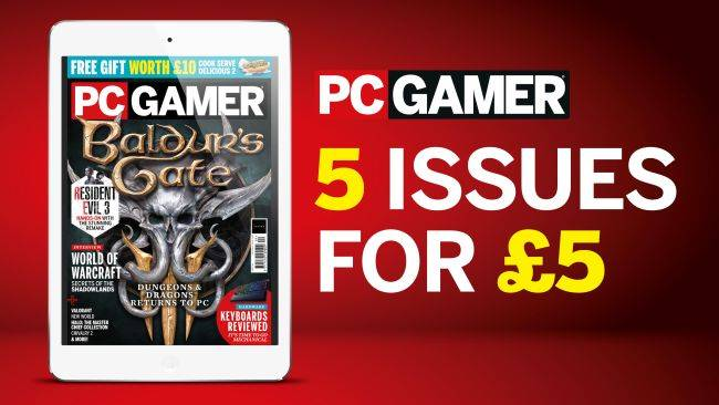 Start a digital subscription to PC Gamer and get 5 issues for a fiver