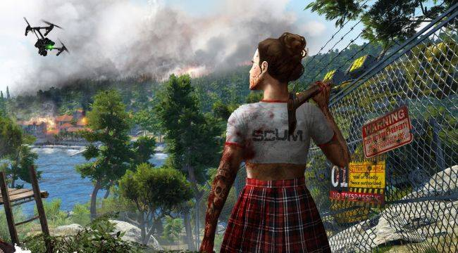 Despite an earthquake, Scum's developers are still updating their game