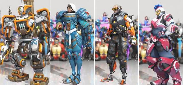 First Look At Four New Overwatch Skins