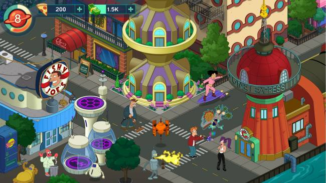 Latest 'Futurama' mobile game is part social sim, part retro action