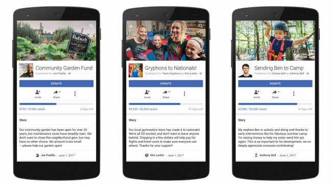 Anyone in the US can use Facebook for personal fundraising