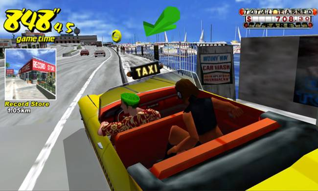 The original 'Crazy Taxi' is free to play on your smartphone