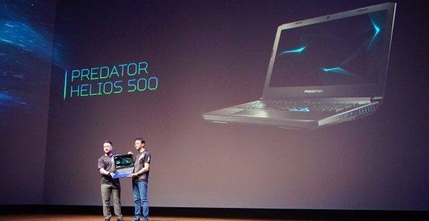 Acer's Predator Helios 500 laptop is so huge it needs two people to lift it