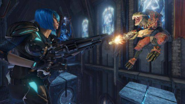Quake Champions shows off new body-shredding gore system