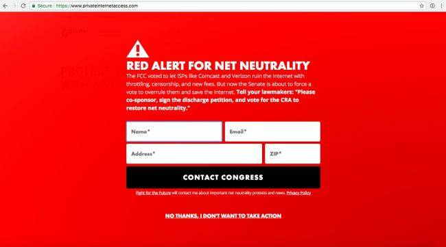 Several popular websites and US Senators are making a last-ditch effort to save net neutrality