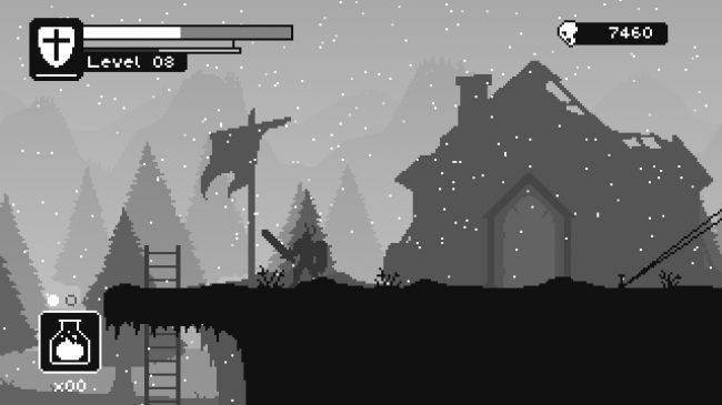 Black-and-white 2D action game Unworthy is out now and worth your time