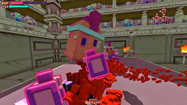 'Spartan Fist' is a first-person brawler with blocky cartoon violence