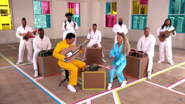 Watch Ariana Grande and The Roots make music with Nintendo Labo