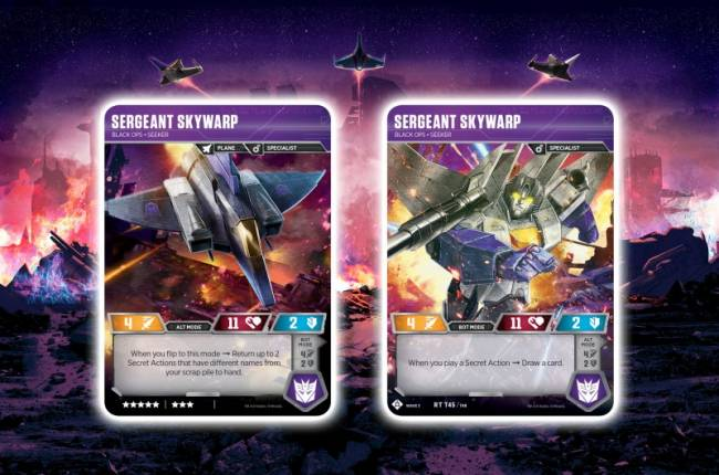 Check Out Transformer's TCG War for Cybertron Siege Sergeant Skywarp