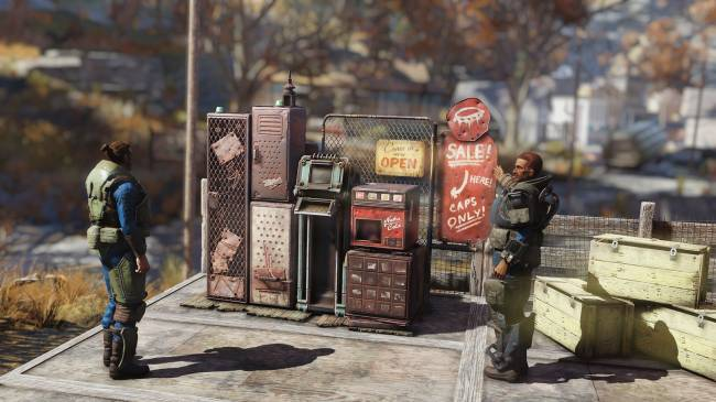 Fallout 76's next update will let you run a shop