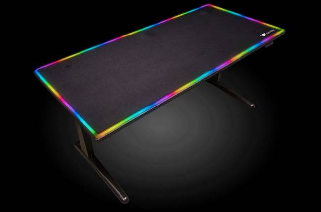 This RGB gaming desk doubles as a gigantic mouse pad, costs $1,200