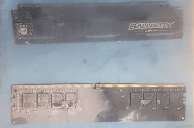 Here's what PC memory looks like after setting a world speed record at 5,726MHz
