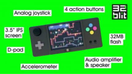 Crowdfunding Spotlight – 32Blit: Retro-Inspired Handheld