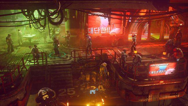 The Ascent announced, a striking cyberpunk action RPG
