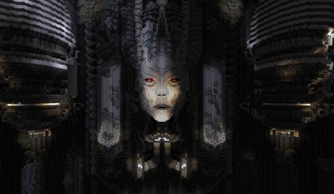 This Minecraft build puts you in a stunning H.R. Giger theme park
