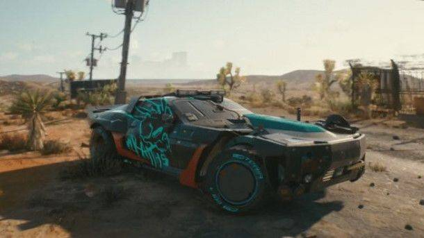 Cyberpunk 2077 car pays tribute to Mad Max: Fury Road