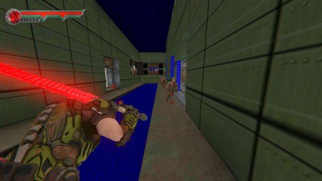 This mod makes Doom 2 a third-person hack-and-slash