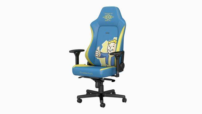 Just sittin' on a Vault Boy... the Fallout gaming chair is now available