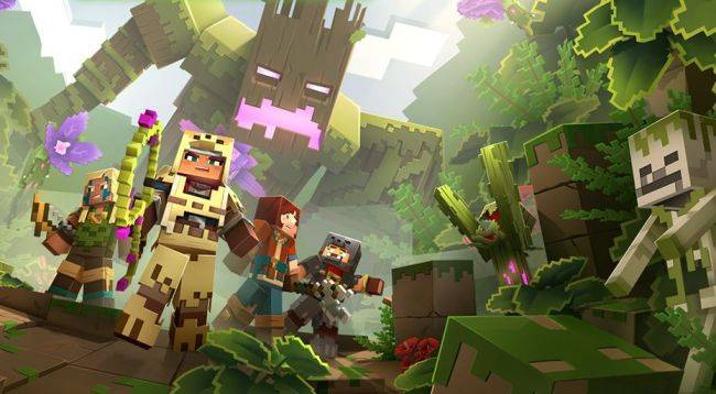 The first Minecraft Dungeons DLC is Jungle Awakens, due July