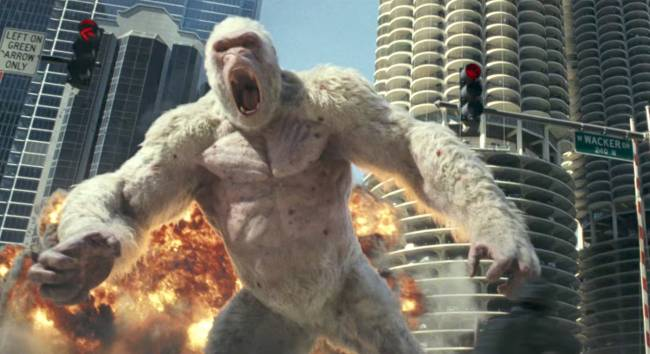 The Rock is Chicago's only hope in 'Rampage'