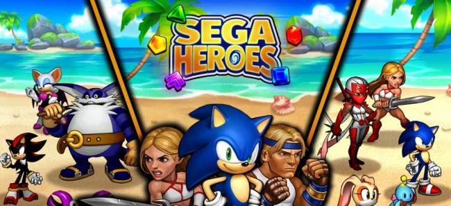 SEGA Heroes Mixes Three-in-a-Row Gameplay With Iconic Characters on Mobile Devices