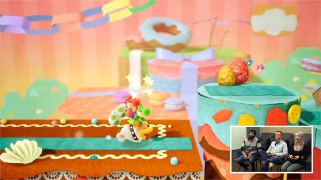Yoshi Can Ride A Yoshi And Then Those Yoshis Can Ride Poochy In Yoshi's Crafted World