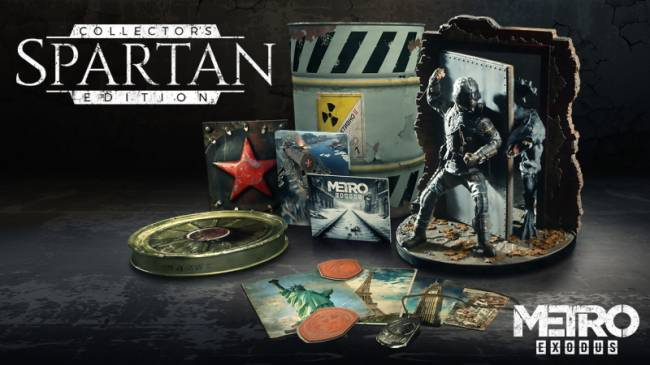 Metro Exodus Collector's Edition Includes Big Statue, Barrel-Shaped Package