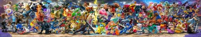 Check Out A High Resolution, Updated Panoramic Illustration Featuring Every Character In Super Smash Bros. Ultimate