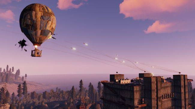 Rust now has hot air balloons and missiles that can shoot them down