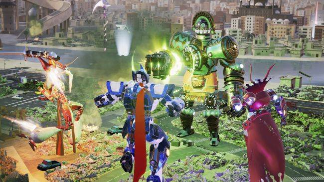 Override: Mech City Brawl lets 4 players pilot a mech together